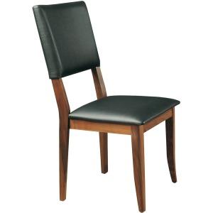 Black Cushioned Side Chair
