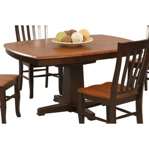 """Santa Fe 57"""" Pedestal Table with 15"""" Butterfly Leaf"""