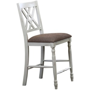 "24"" Double X-Back Cushioned Barstool"