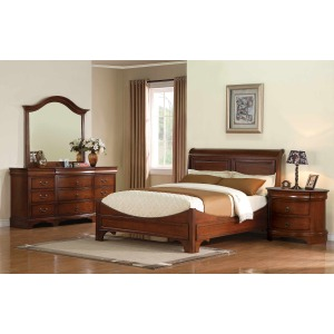 Renaissance Sleigh Bed Suite in Cherry