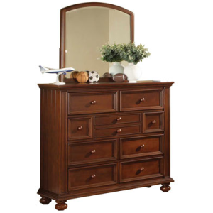 "50"" Tall 9 Drawer Dresser and 32"" Youth Mirror"