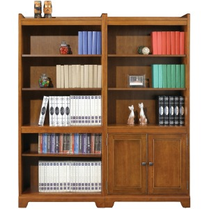 """72\"""" Open Bookcase and Bookcase with Doors"""