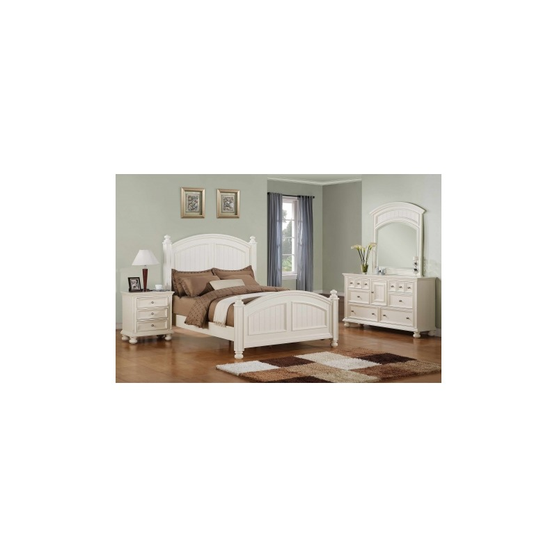 Cape Cod Panel Bed Suite in White