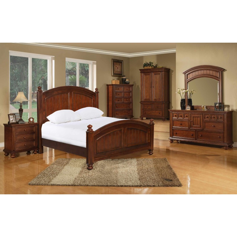 Cape Cod Panel Bed Suite in Chocolate