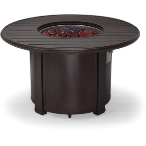"44"" Round Slat Top, Lid & LP Base Fire Pit"