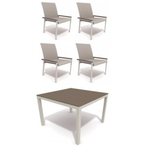 Echo Sling 5 PC Outdoor Dining Set