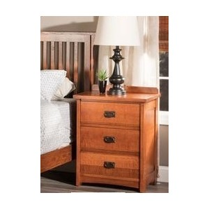 American Mission 3 Drawer Nightstand