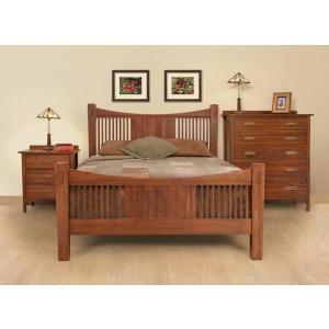 Heartland Mission King Panel Slat Bed