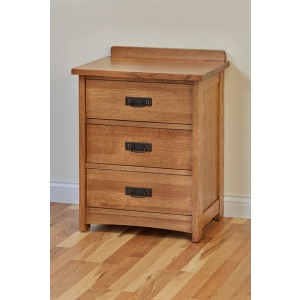 American Craftsman 3 Drawer Nightstand