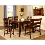 Solid Mango 5PC Counter Height Dining Set