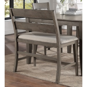Pub Bench with Back - Grey