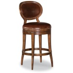 Oval Back Armless Swivel Bar Stool