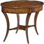 Oval Empire Side Table