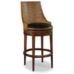 Woven Leather Counter Stool