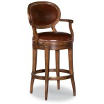 Oval Back Swivel Counter Stool