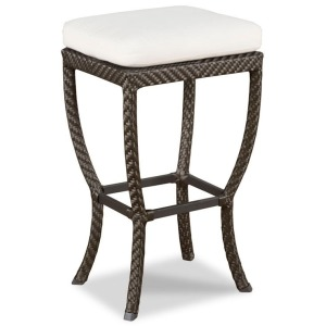 Outdoor Backless Rectangular Bar Stool