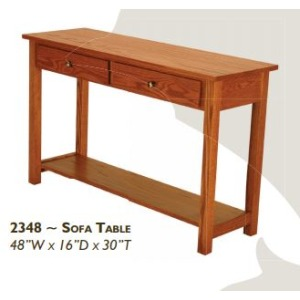 Loft Red Oak Sofa Table