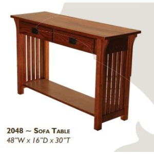 Mission Red Oak Sofa Table