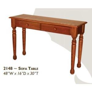 Farmhouse Red Oak Sofa Table
