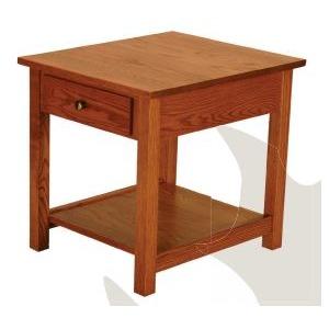 Loft Red Oak End Table