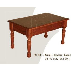 Farmhouse Red Oak Small Coffee Table