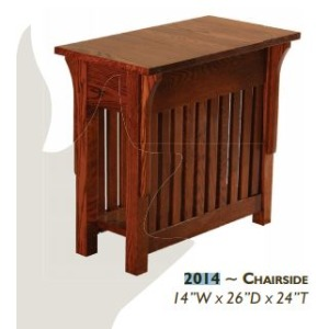 Mission Red Oak Chairside Table