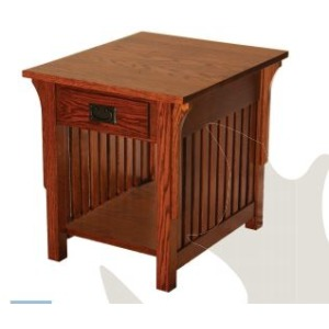 Mission Red Oak End Table