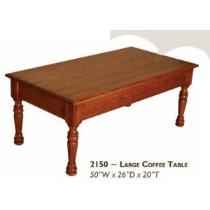 Farmhouse Red Oak Large Coffee Table
