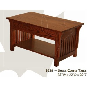 Mission Red Oak Small Coffee Table
