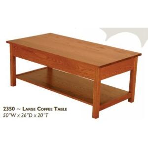 Loft Red Oak Large Coffee Table