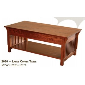 Mission Red Oak Large Coffee Table