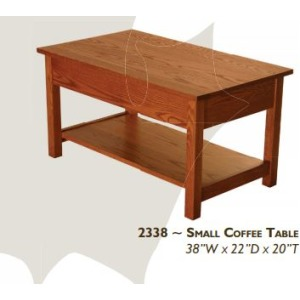 Loft Red Oak Small Coffee Table