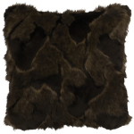 "Adobe Quarry Onyx Marbled Fox Faux Fur Pillow - 18"" x 18"""