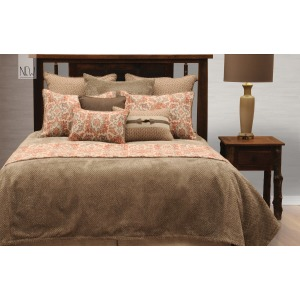 Brio Henna 6 PC Coverlet Set - Super King
