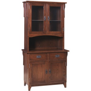 Heirloom Mission 2 Door Buffet & Half Hutch
