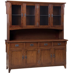 Heirloom Mission 4 Door Buffet & Half Hutch