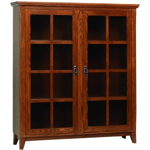 Mission Office Bookcase With Lattice Doors