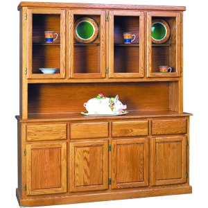 Contemporary 4 Door Buffet & Half Hutch