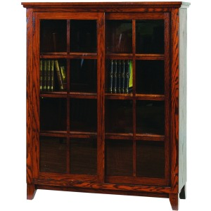 Mission Office Bookcase With Sliding Lattice Doors