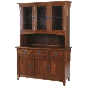 Heirloom Mission 3 Door Buffet & Half Hutch