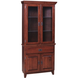 Mission Grand Corner Cabinet Full Hutch