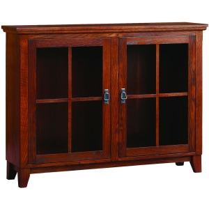 Mission Den Bookcase With Lattice Doors