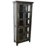 Solid Mango Wood Display Cabinet