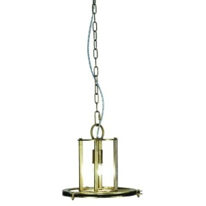 1 Light Pendant in Antique brass Finish Small