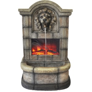 27 1/2 inch height Fountain with fireplace
