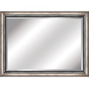 Mirror with Antique Silver Finished Frame