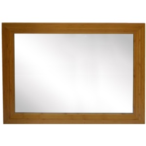 Mirror with Bamboo Frame