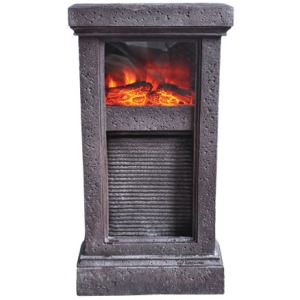 25 inch height Fountain with fireplace on display