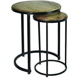 2 PC Sheesham Nest Table Set