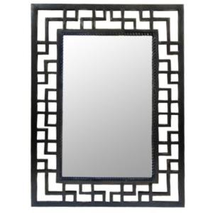 Iron Beveled Mirror
